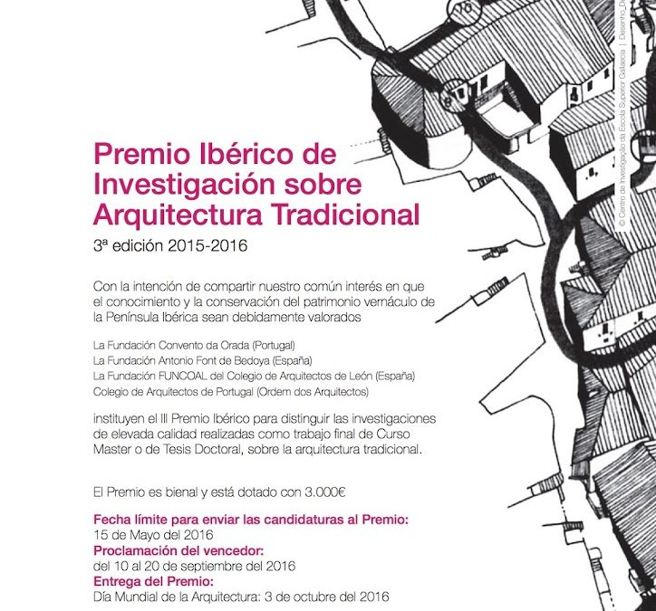 III Premio Ibérico de Investigación sobre Arquitectura Tradicional 2015-2016