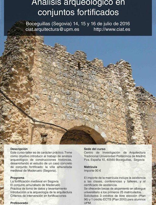 V Curso -Taller de arqueología de la arquitectura