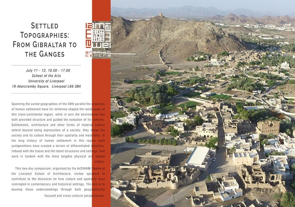 Terrachidia invitada al «Simposium Settled Topographies: from Gibraltar to the Ganges»