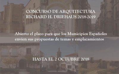 Abierto el plazo para que los Municipios españoles envíen sus propuestas