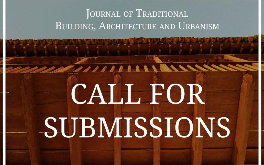 Envío de textos para el Journal of Traditional Building, Architecture and Urbanism
